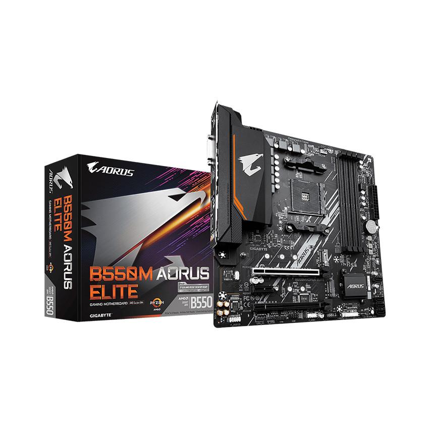 Mainboard Gigabyte B550M AORUS ELITE (AMD B550, Socket AM4, m-ATX, 4 khe RAM DDR4)