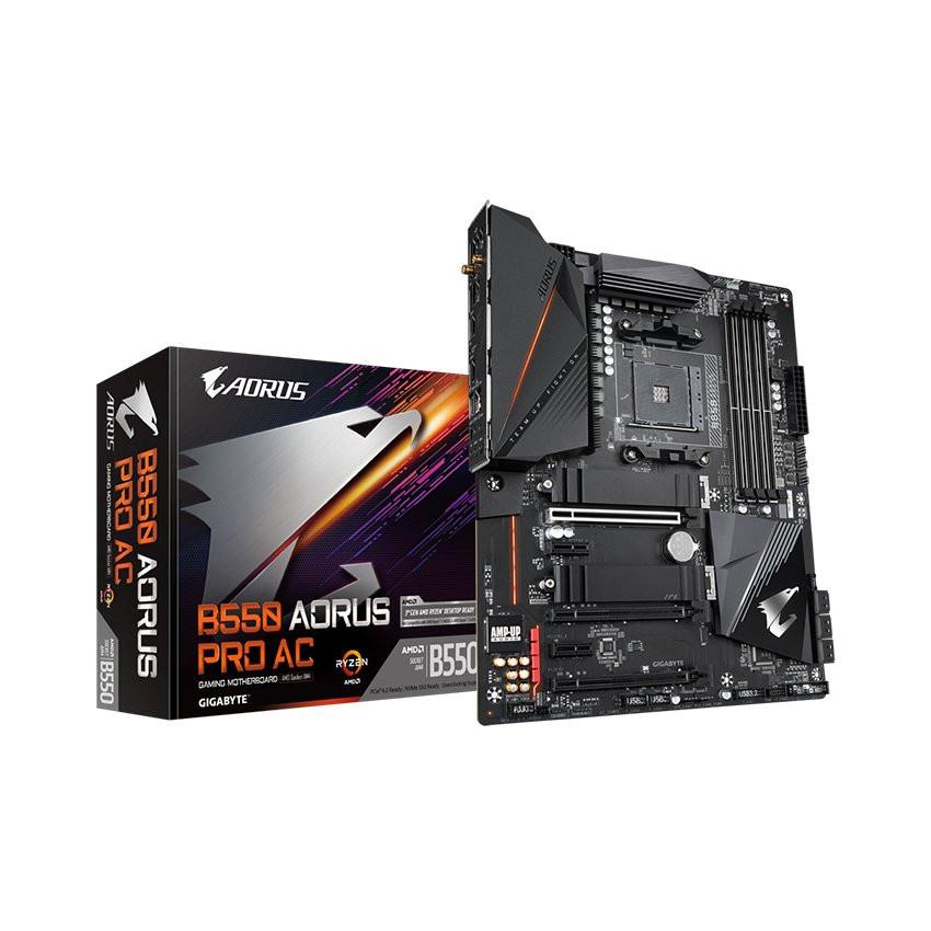 Mainboard Gigabyte B550 AORUS PRO AC (AMD B550, Socket AM4, m-ATX, 4 khe RAM DDR4)