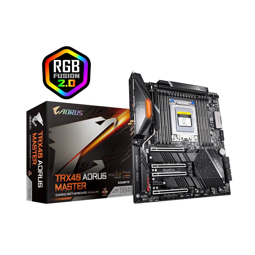 Mainboard GIGABYTE TRX40 AORUS MASTER (AMD TRX40, Socket sTRX4, E-ATX, 8 khe RAM DDR4)