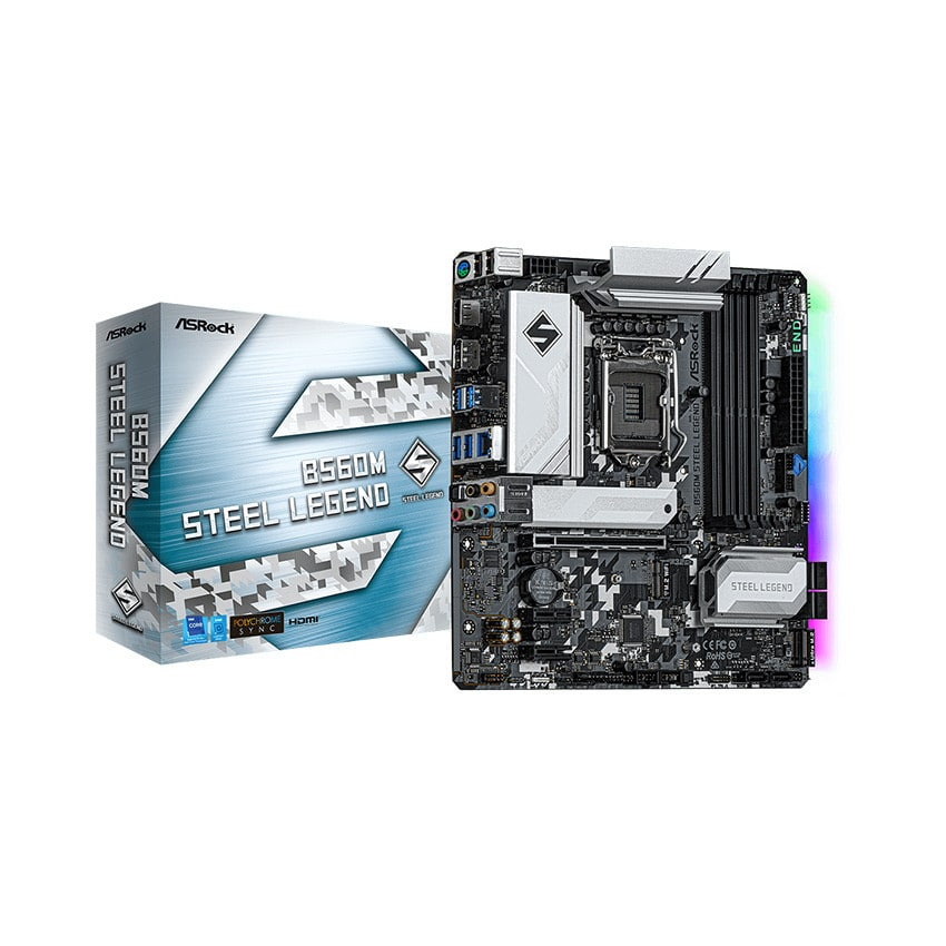 Mainboard ASROCK B560M STEEL LEGEND (Intel B560, Socket 1200, m-ATX, 4 khe Ram DDR4)