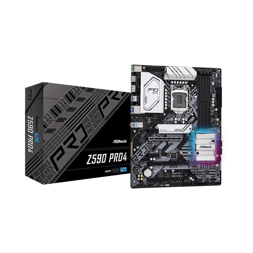 Mainboard ASROCK Z590 PRO4 (Intel Z590, Socket 1200, ATX, 4 khe Ram DDR4)
