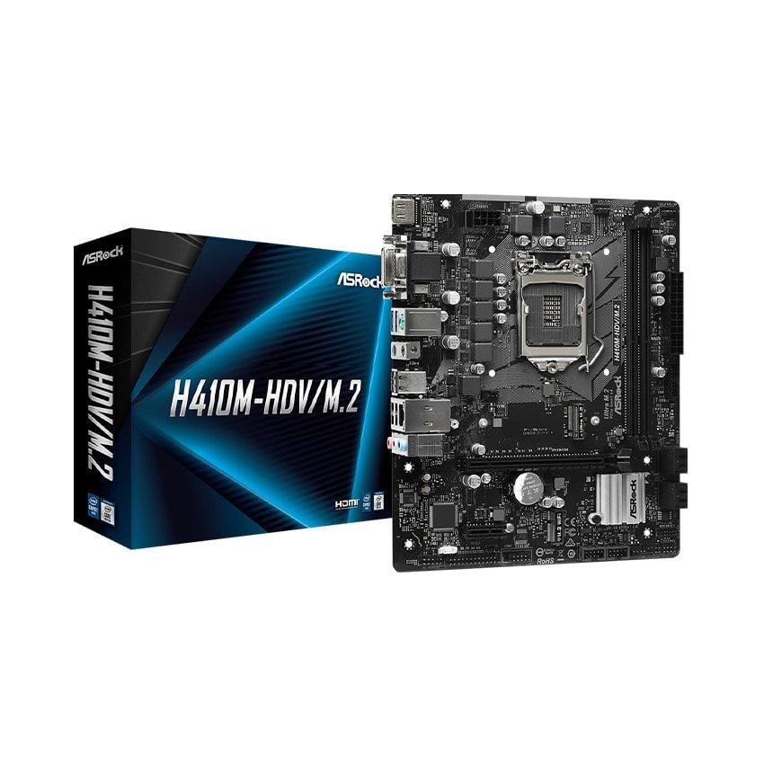 Mainboard ASROCK H410M-HDV/M.2 (Intel H410, Socket 1200, m-ATX, 2 khe Ram DDR4)