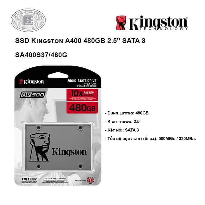 Ổ cứng SSD Kingston A400 480GB 2.5