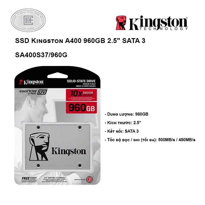 Ổ cứng SSD Kingston A400 960GB 2.5