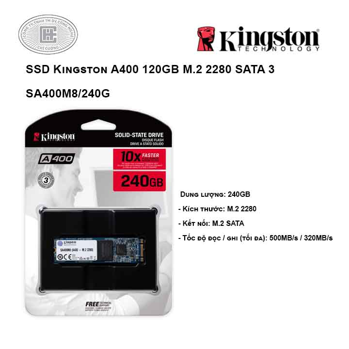 Ổ cứng SSD Kingston A400 240GB M.2 2280 SATA 3 - SA400M8/240G