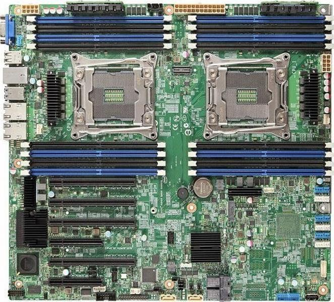 Main Intel DBS2600CW2R (C612 Chipset, hỗ trợ 2x CPU Socket 2011)
