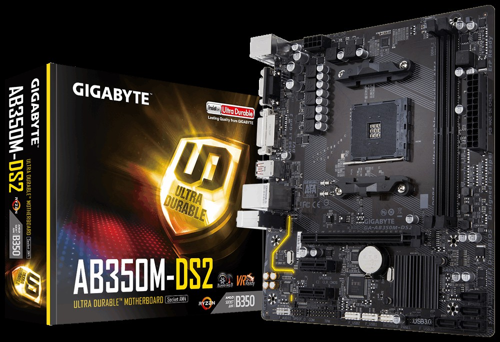 Main GigaByte AB350M DS2 Socket AM4