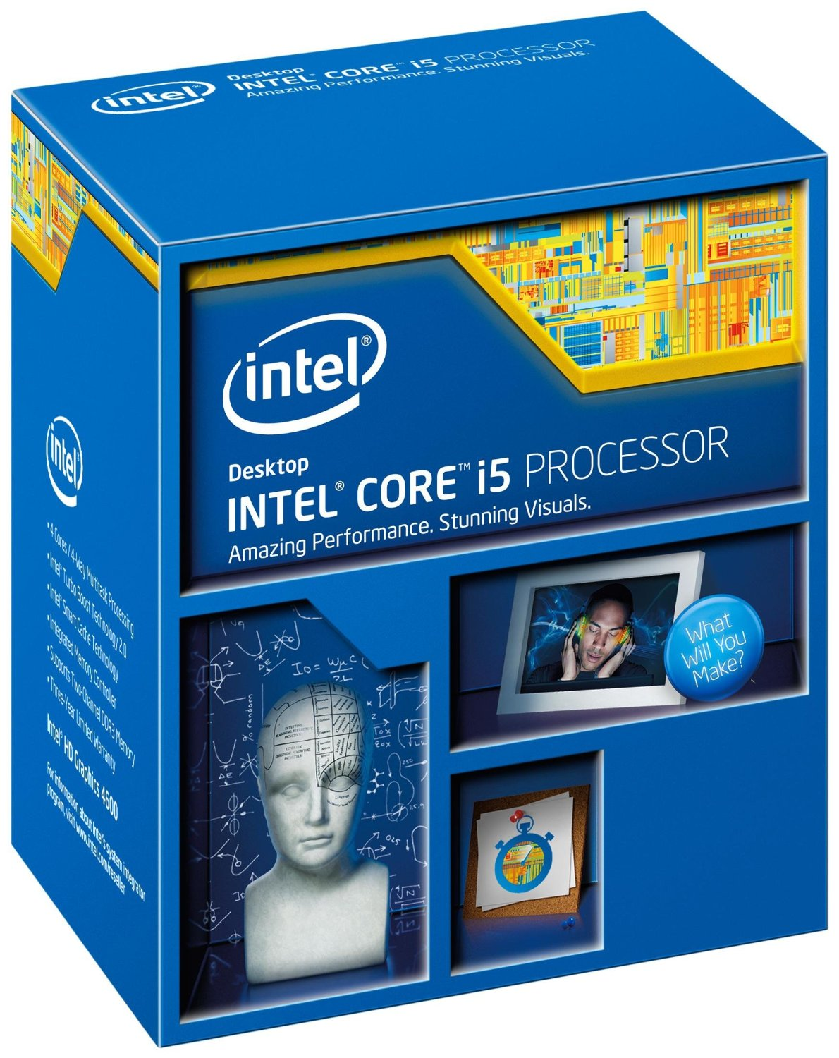 CPU Intel Core i5 4460 3.20GHz up to 3.40GHz / 6MB / HD 4600 Graphics / Socket 1150 Haswell