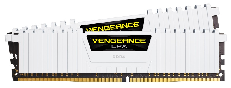 RAM CORSAIR PC DDR4 16GB Bus 2666 ( 8GB * 2 ) CMK16GX4M2A2666C16W - WHITE