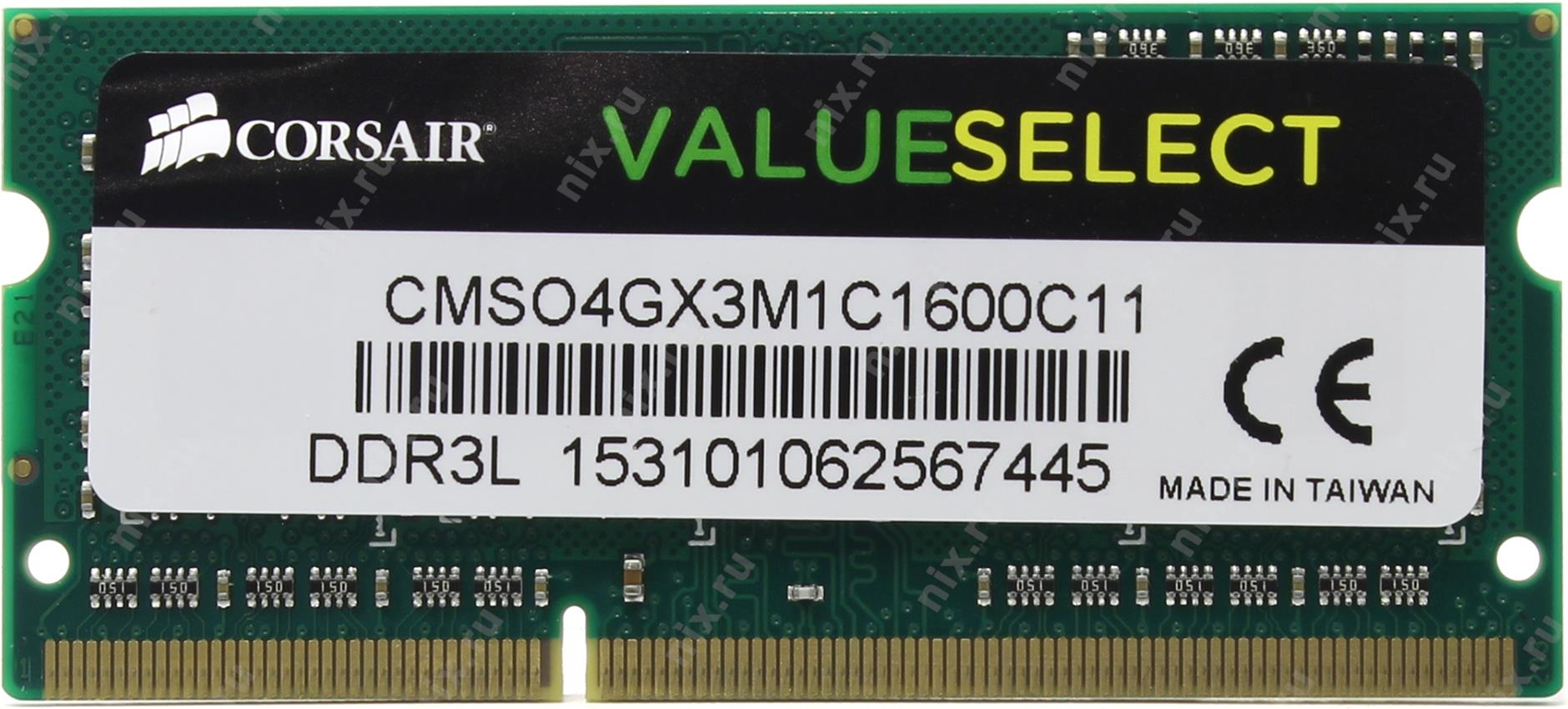 RAM LAPTOP CORSAIR 4GB Bus 1600 DDR3L - CMSO4GX3M1C1600C11