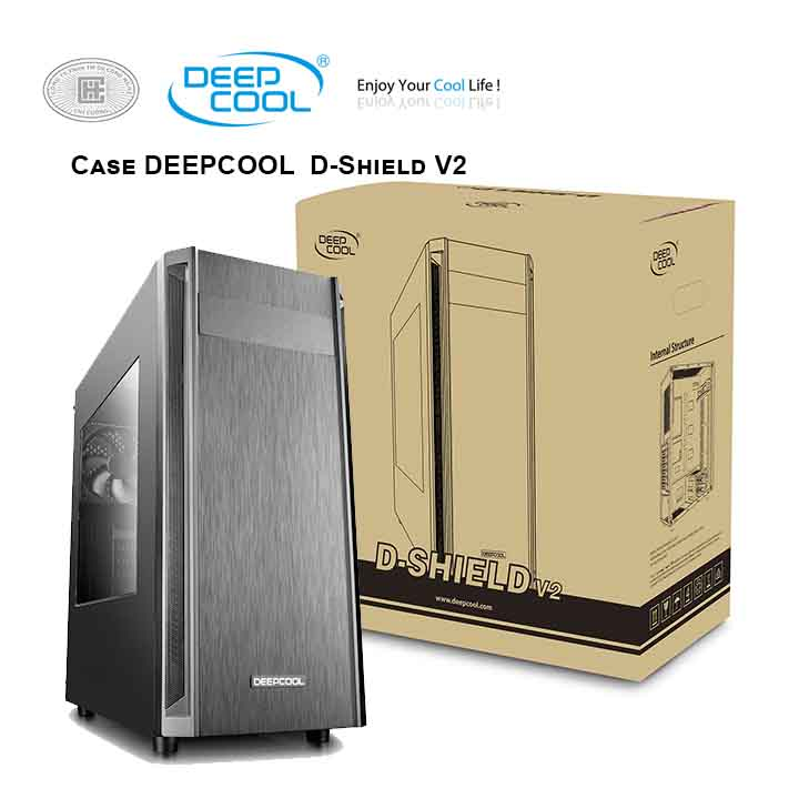 Case máy tính DEEPCOOL D-Shield V2 Mid Tower