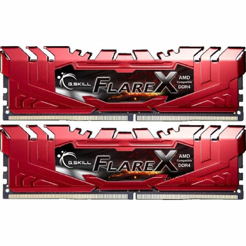 Ram PC GSKill FLARE X DDR4 32GB Bus 2400 ( 16GB*2 ) F4-2400C16D-32GFXR (RED)