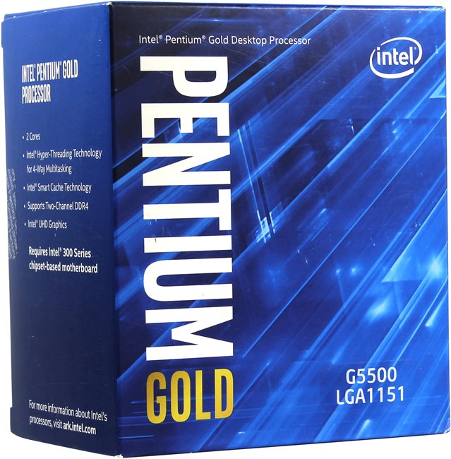 CPU Intel Pentium Gold G5500 Coffee Lake 3.8 GHz - 2 Cores 4 Threads - Socket 1151 v2