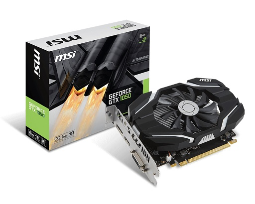 VGA MSI - GTX1050 2GOC - NVIDIA® GeForce® GTX 1050 , PCI Express x16 3.0