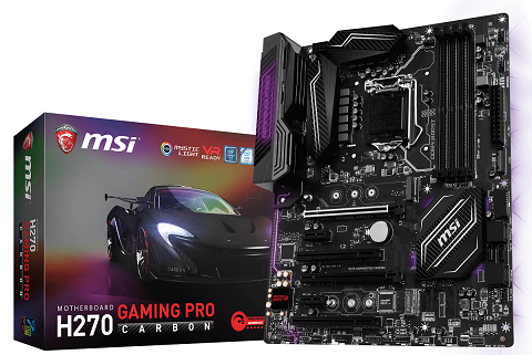 MAIN MSI H270 GAMING PRO CARBON - Socket LGA1151