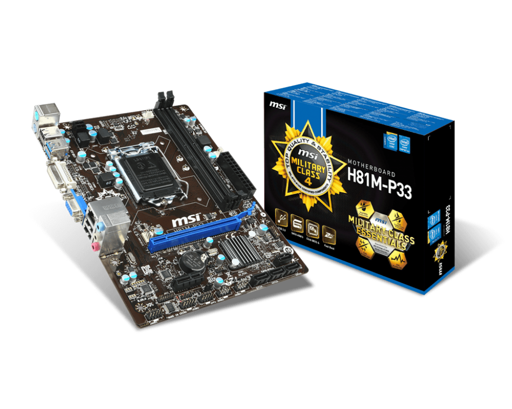 MAIN MSI H81M e33 - Socket LGA1150