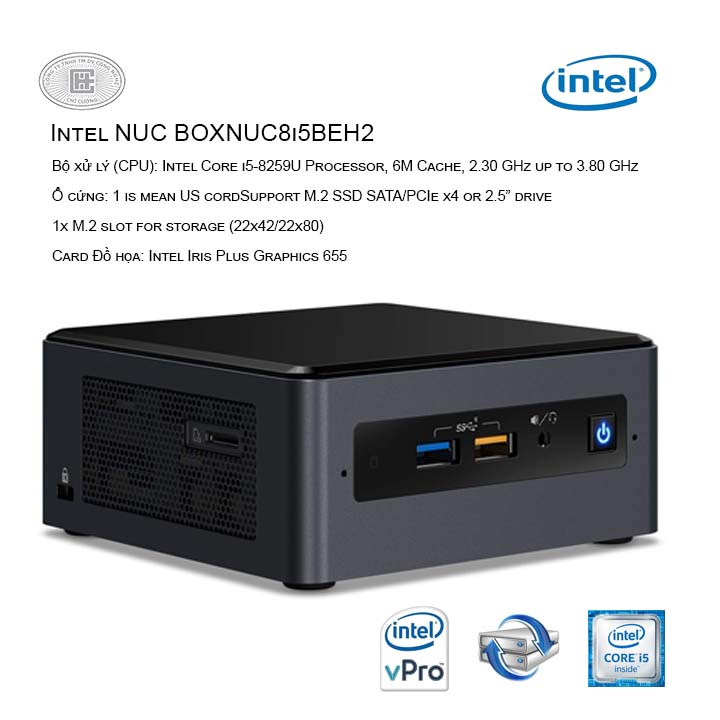 PC Intel NUC BOXNUC8i5BEH2 Core i5-8259U