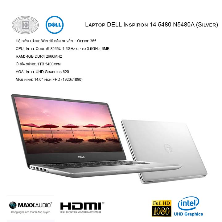 Laptop DELL Inspiron 14 5480 N5480A (Silver)