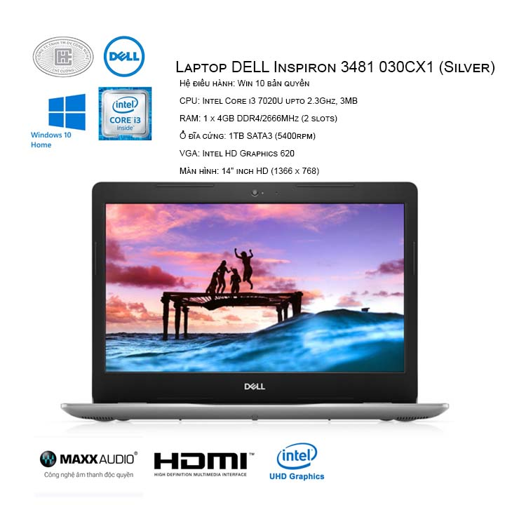 Laptop DELL Inspiron 3481 030CX1 (Silver) ( 14