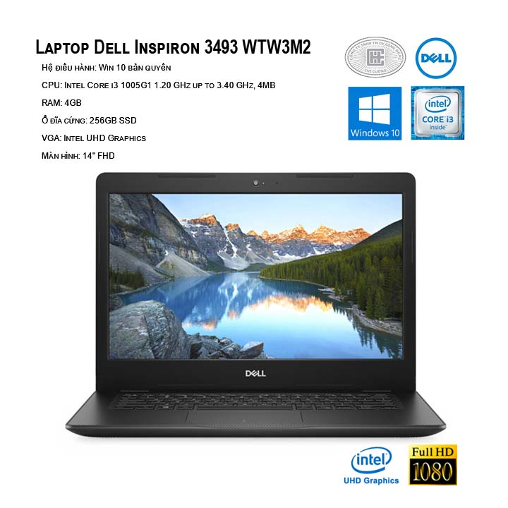 Laptop Dell Inspiron 14 3493 WTW3M2  (14