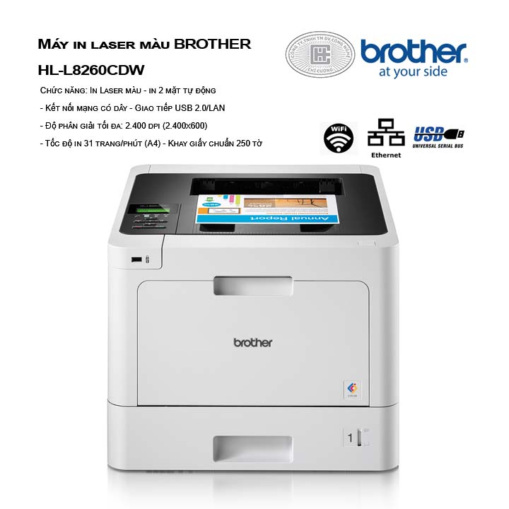 Máy in laser màu BROTHER HL-L8260CDW