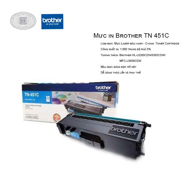 Mực in laser màu Brother TN-451C