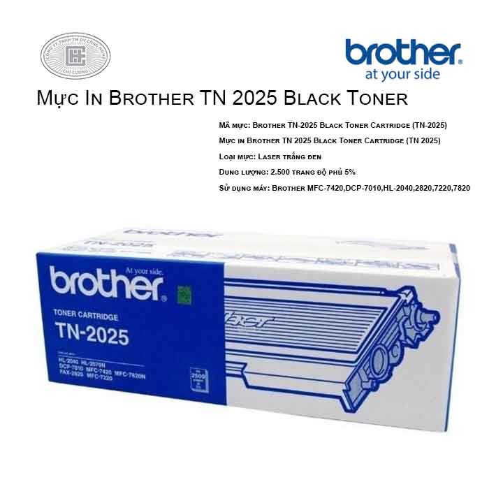Mực in Brother TN 2025 Black Toner Cartridge ( cho máy MFC-7420,DCP-7010,HL-2040,2820,7220,7820)