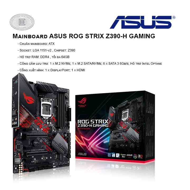 Mainboard ASUS ROG STRIX Z390-H GAMING