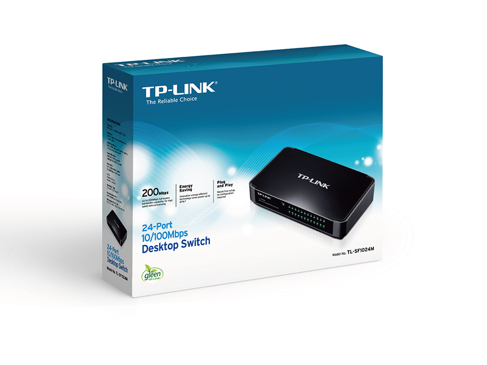 SWITCH TP LINK  24 port 10/100 M TL SF1024M