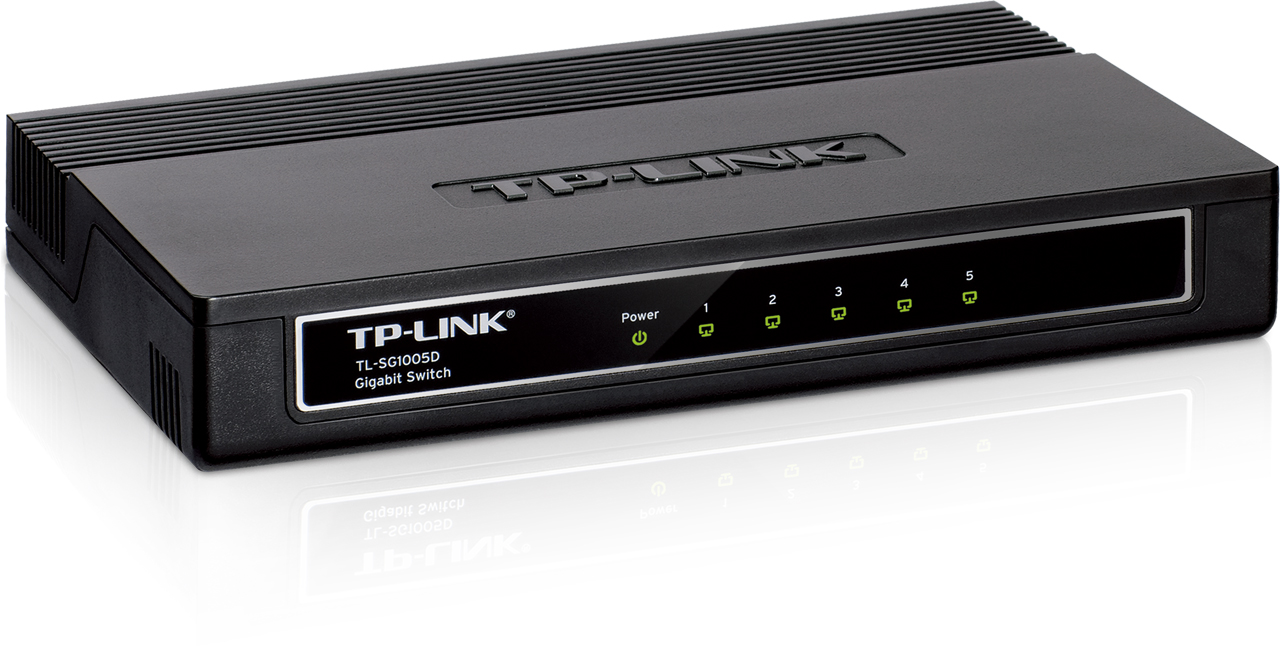 SWITCH TP-LINK -Unmanaged Pure-Gigabit Switch - TL-SG1005D