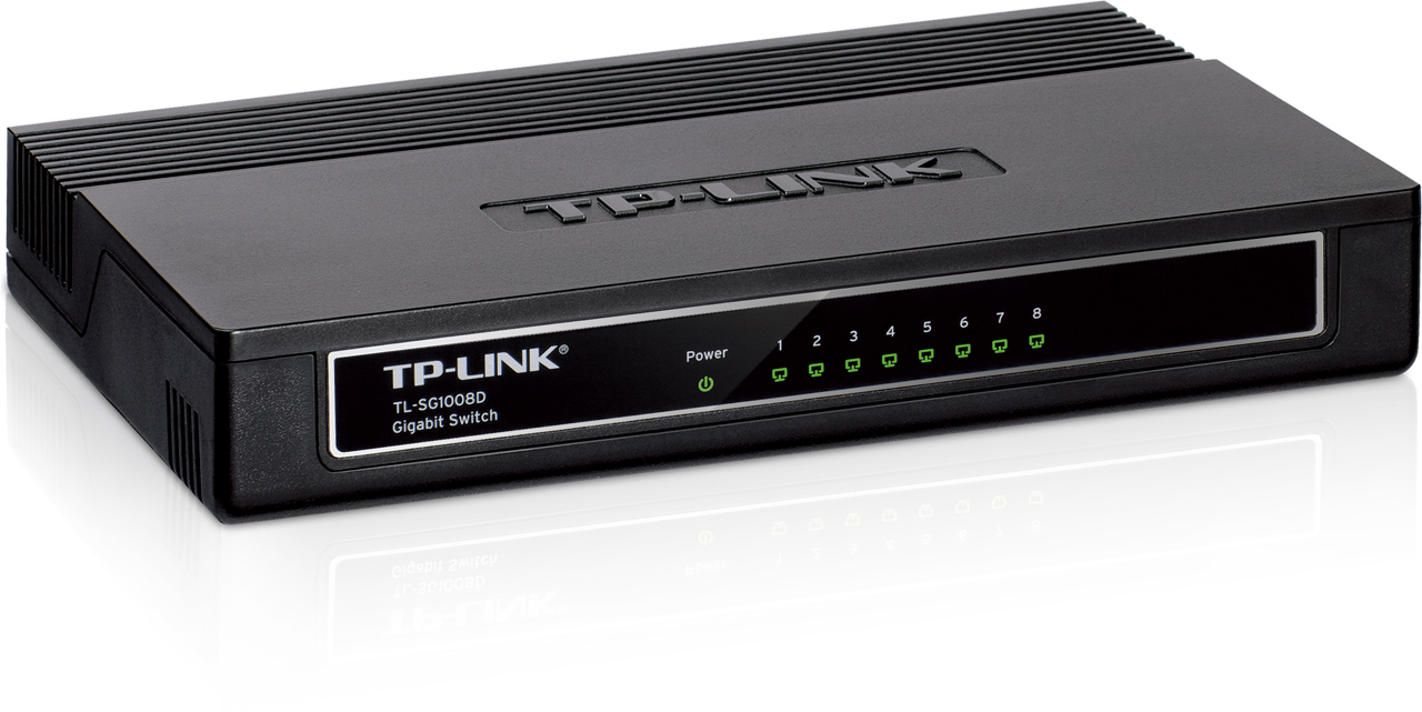 SWITCH TP-LINK -Unmanaged Pure-Gigabit Switch - TL-SG1008D