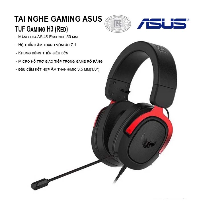 Tai nghe Asus TUF Gaming H3 (Red)