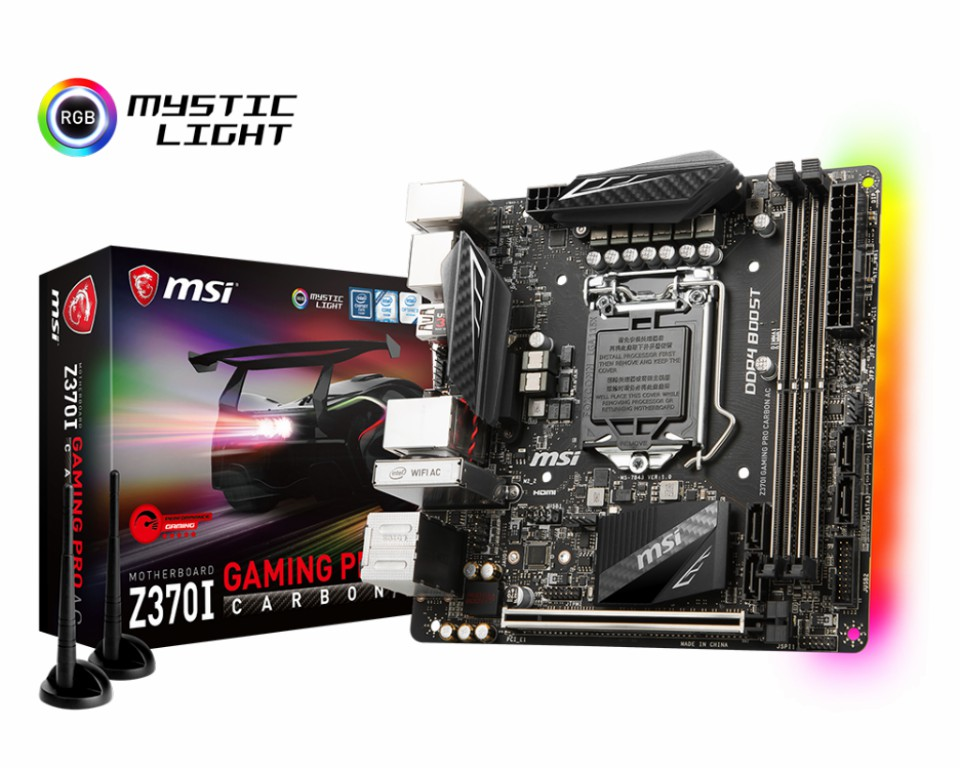 Main MSI Z370I GAMING PRO CARBON AC Socket 1151 v2